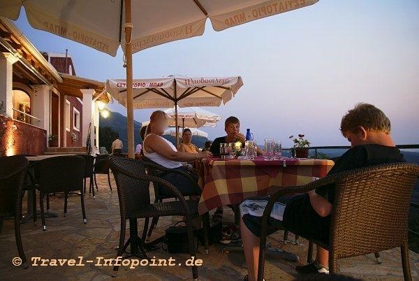 Korfu, Acharavi: Sun Set Taverne