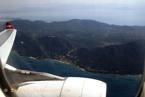Anflug Korfu
