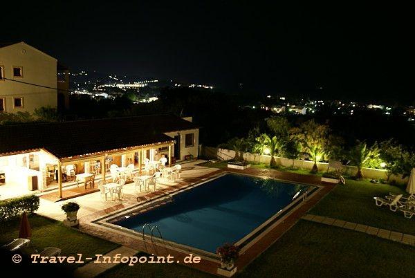 Korfu, Hotel Panos in Acharavi: Blick