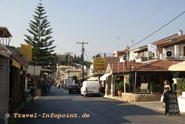 Korfu, Kassiopi Hauptstrasse