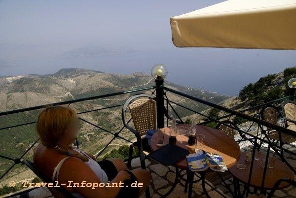 Korfu, Pantokrator Tavernenblick