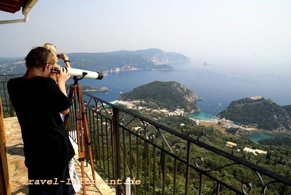 Corfu, Blick auf Paleokastritsa