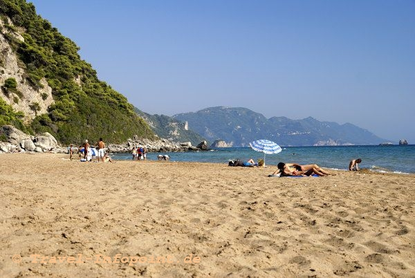 Korfu: Beach von Glifada