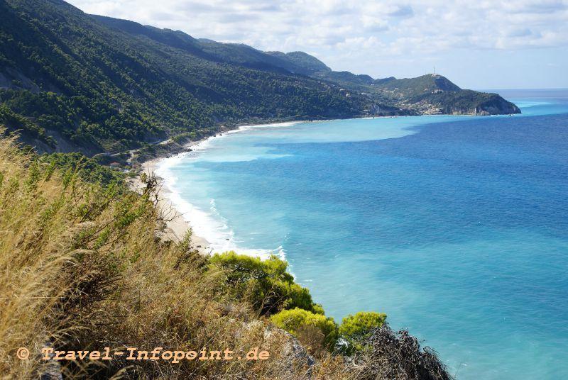 Küste Lefkas, Griechenland