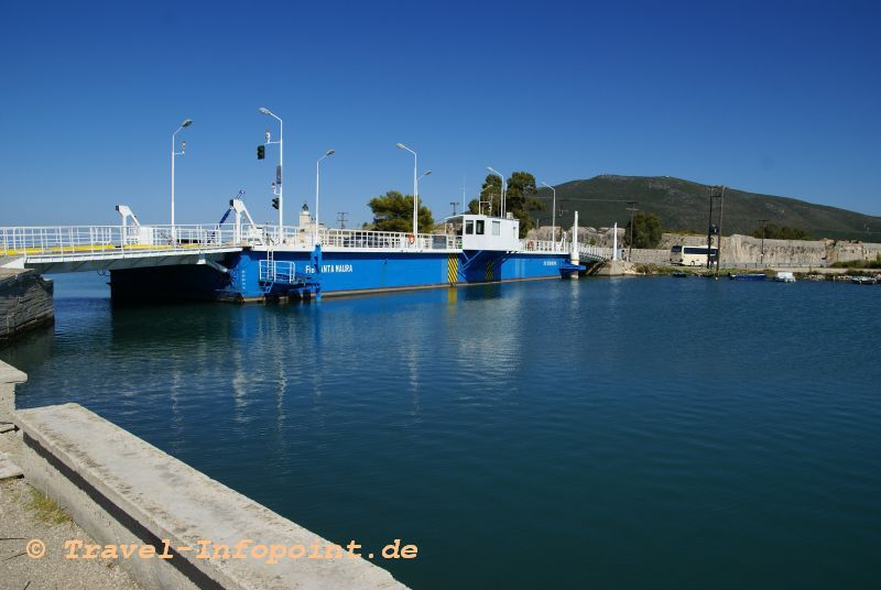 Schwimmbrücke Lefkada, Griechenland