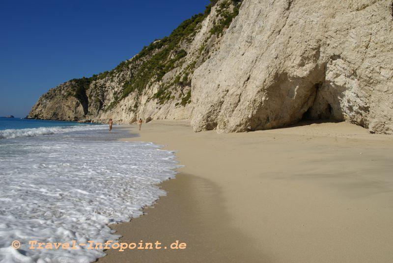 Egremnoi-Beach, Westküste Lefkas