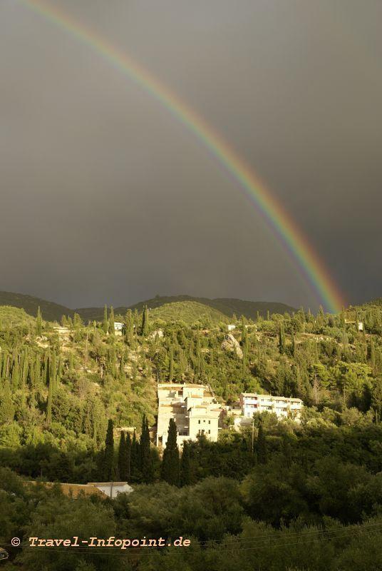 Gewitter auf Lefkas, Griechenland