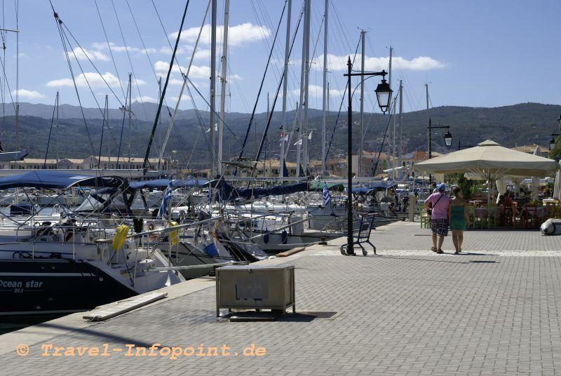 Lefkada Hafen, Griechenland