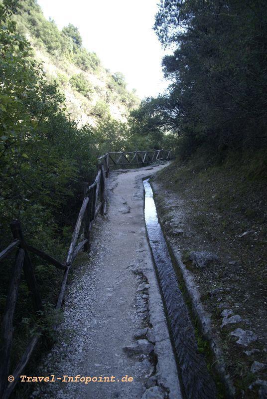 Wasserfälle bei Rachi, Lefkas