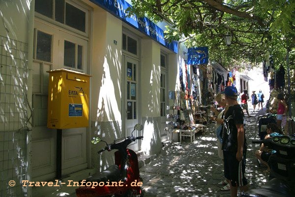 Post in Molivos, Lesbos
