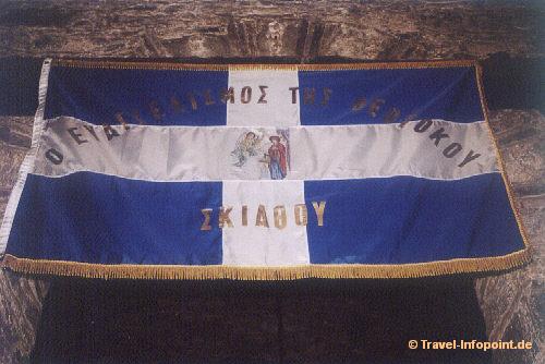 Ursprungsflagge Griechenland auf Skiathos (vergrößerte Ansicht in der Bildergalerie 4)