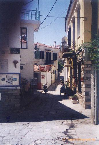 Skiathos: Altstadt, (vergrößerte Ansicht in der Bildergalerie 2)