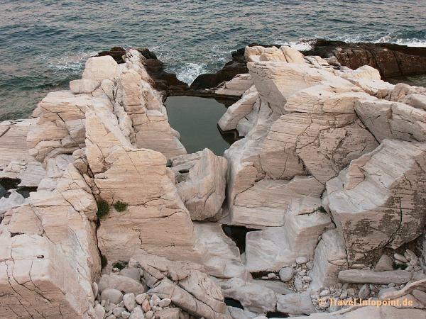 Marmorhalbinsel auf Thassos