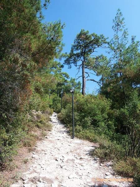 Weg zum Kastro von Limenas, Thassos