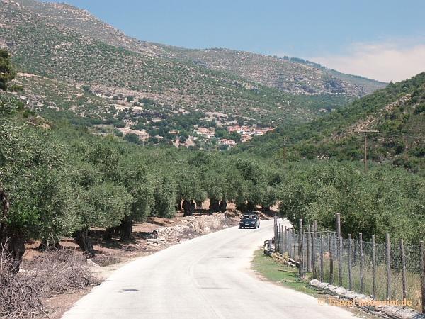 Straße nach Maries, Thassos