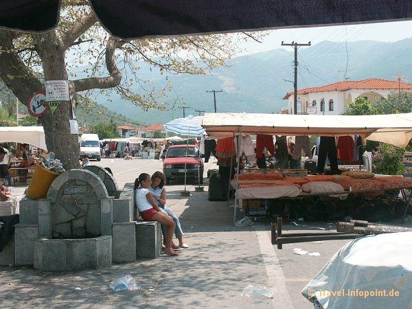 Markt in Prinos, Thassos