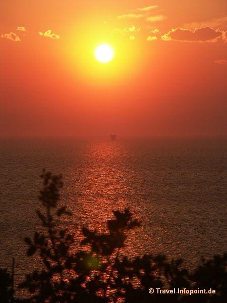 Sonnenuntergang au f Thassos