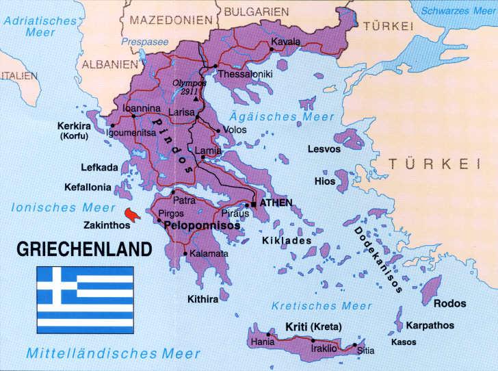 zakynthos griechenland karte Zakynthos Karten und Übersichten